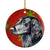 Flat Coated Retriever Red Snowflake Holiday Christmas Ceramic Ornament LH9321 by Caroline's Treasures