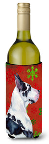 Buy this Great Dane Snowflakes Holiday Christmas Wine Bottle Beverage Insulator Beverage Insulator Hugger