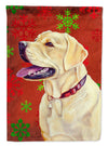 Labrador Red and Green Snowflakes Holiday Christmas Flag Garden Size by Caroline's Treasures