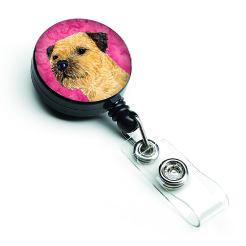 Buy this Pink Border Terrier Retractable Badge Reel LH9368PKBR