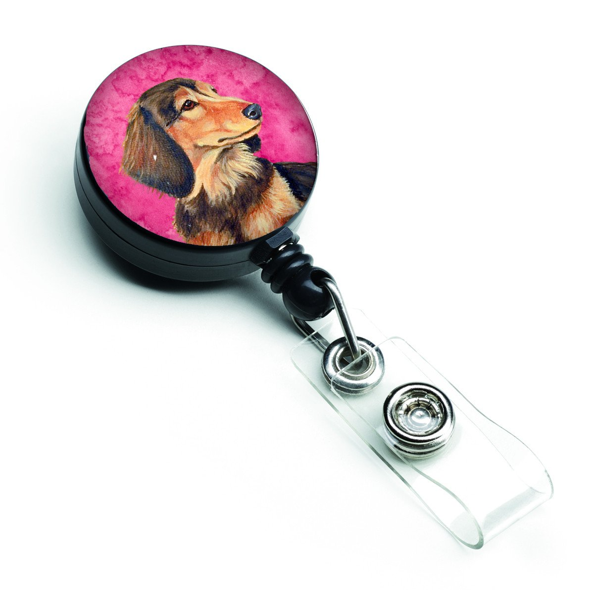 Pink Dachshund Retractable Badge Reel LH9391PKBR by Caroline's Treasures
