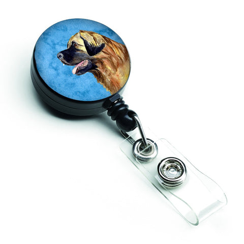 Buy this Blue Leonberger Retractable Badge Reel LH9393BUBR