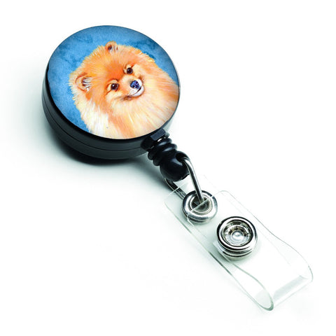 Buy this Blue Pomeranian Retractable Badge Reel LH9395BUBR
