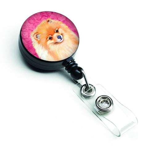 Buy this Pink Pomeranian Retractable Badge Reel LH9395PKBR
