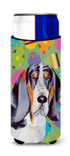 Basset Hound Easter Eggtravaganza Ultra Beverage Insulators for slim cans LH9417MUK by Caroline's Treasures
