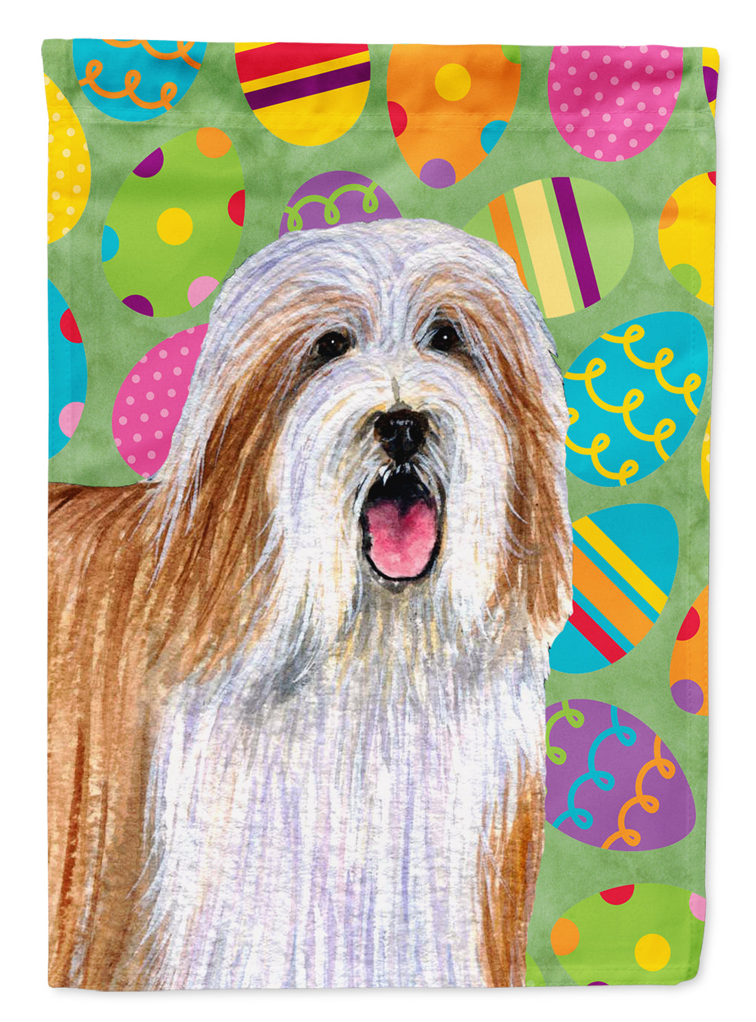 Buy this Bearded Collie Easter Eggtravaganza Flag Garden Size
