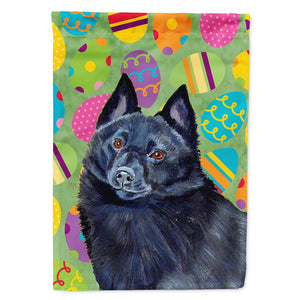 Buy this Schipperke Easter Eggtravaganza Flag Garden Size