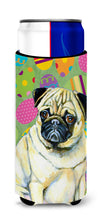 Pug Easter Eggtravaganza Ultra Beverage Insulators for slim cans LH9432MUK by Caroline's Treasures