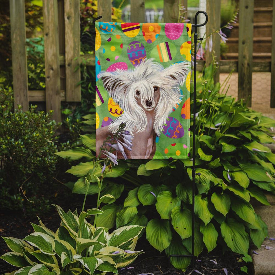 Buy this Chinese Crested Easter Eggtravaganza Flag Garden Size