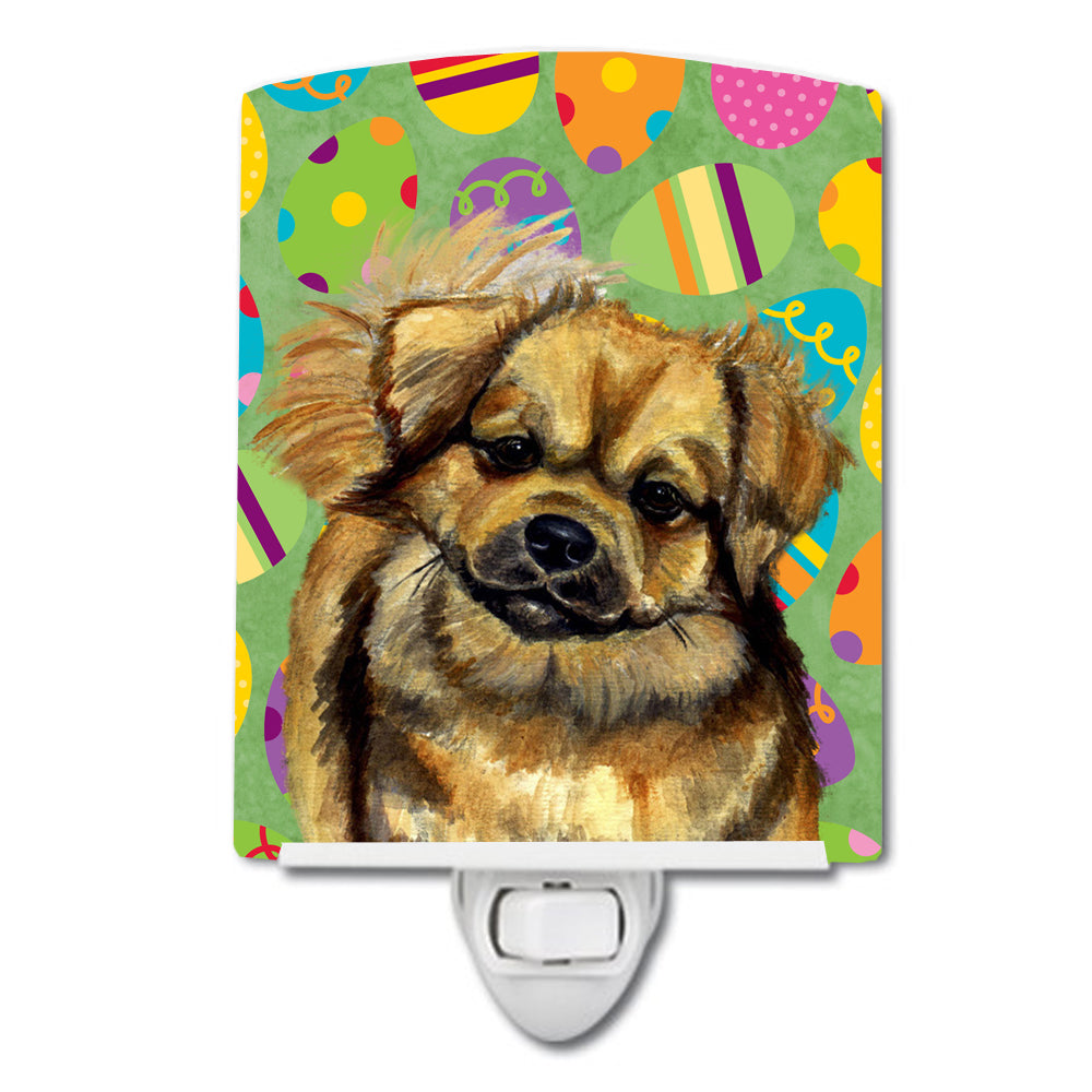 Buy this Tibetan Spaniel Easter Eggtravaganza Ceramic Night Light LH9439CNL