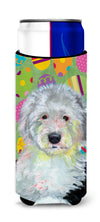 Old English Sheepdog Easter Eggtravaganza Ultra Beverage Insulators for slim cans LH9441MUK by Caroline's Treasures