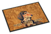 Longhair Chocolate Dachshund Wipe your Paws Indoor or Outdoor Mat 24x36 - the-store.com