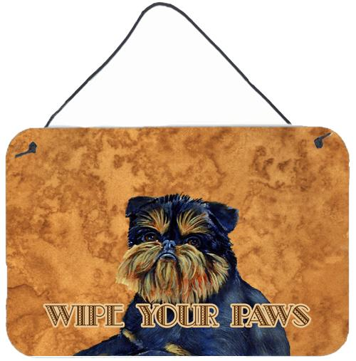 Brussels Griffon Wipe your Paws Aluminium Metal Wall or Door Hanging Prints by Caroline's Treasures