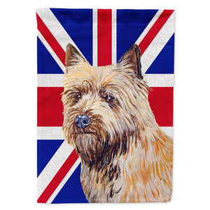 Buy this Cairn Terrier with English Union Jack British Flag Flag Garden Size LH9472GF