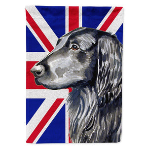 Buy this Flat Coated Retriever with English Union Jack British Flag Flag Garden Size