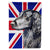 Flat Coated Retriever with English Union Jack British Flag Flag Garden Size by Caroline's Treasures