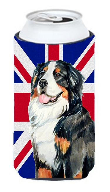 Bernese Mountain Dog with English Union Jack British Flag Tall Boy Beverage Insulator Hugger LH9486TBC by Caroline's Treasures