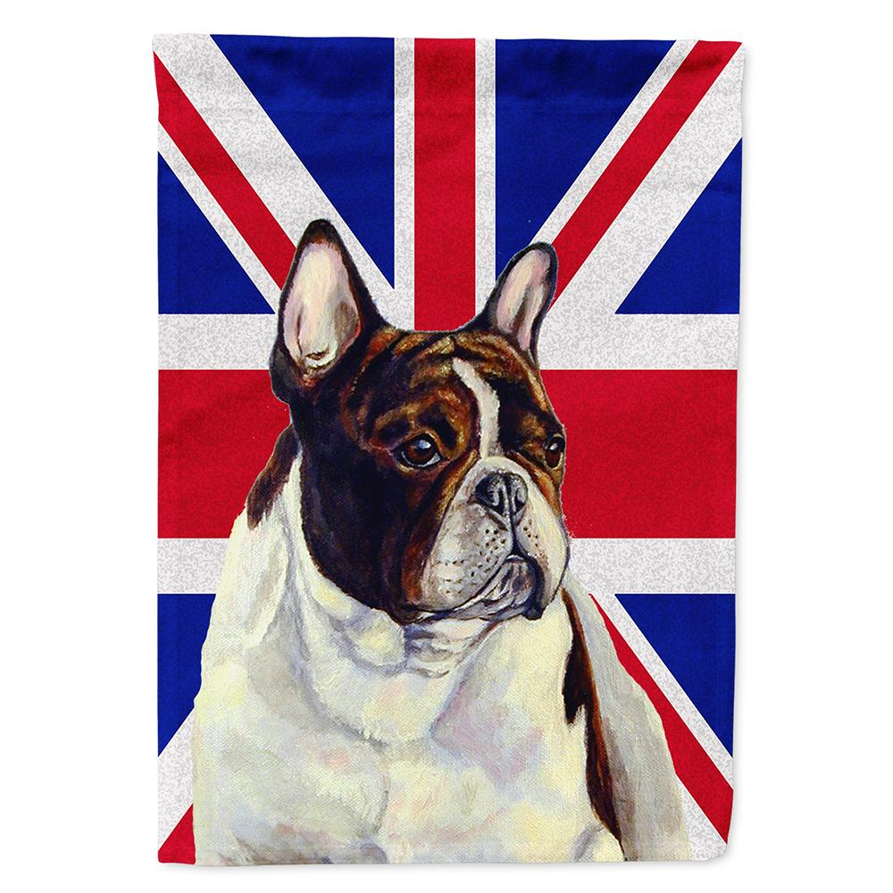 French Bulldog with English Union Jack British Flag Flag Garden Size LH9489GF by Caroline's Treasures