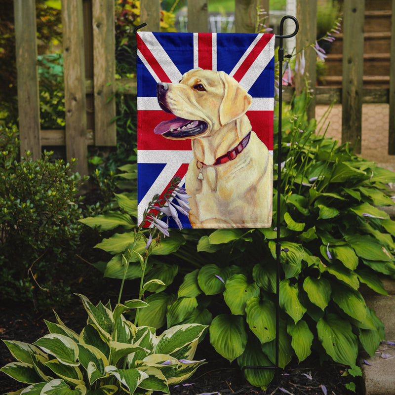 Buy this Labrador with English Union Jack British Flag Flag Garden Size LH9490GF