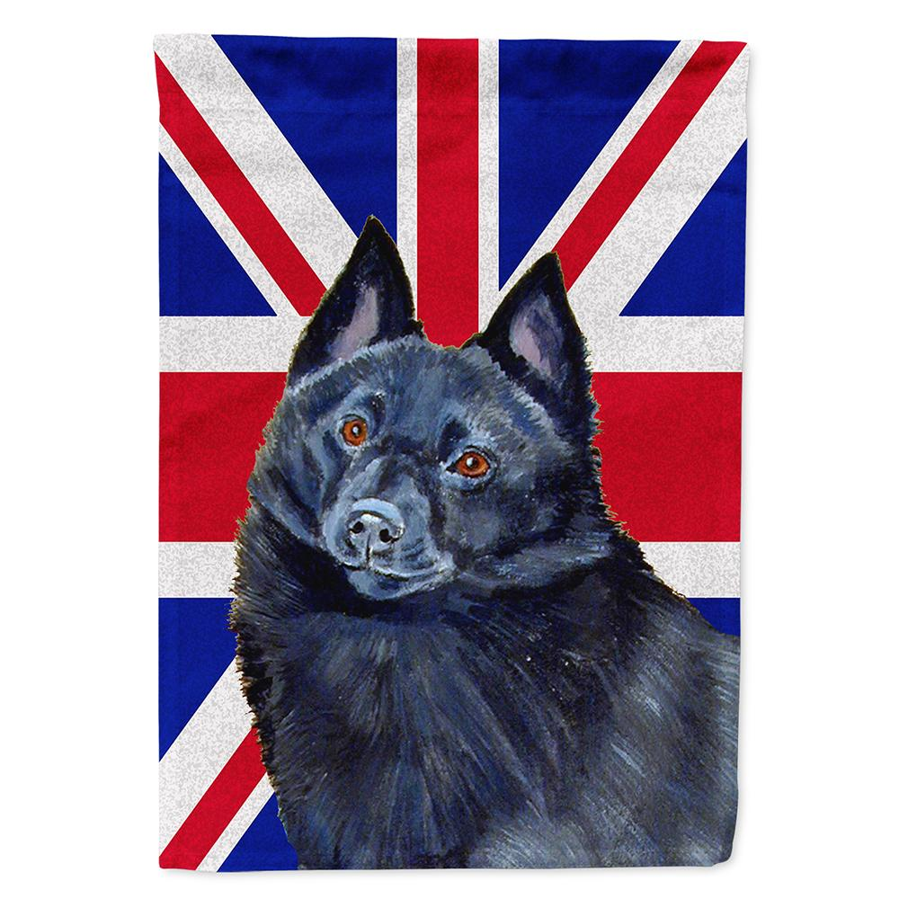 Buy this Schipperke with English Union Jack British Flag Flag Garden Size LH9491GF