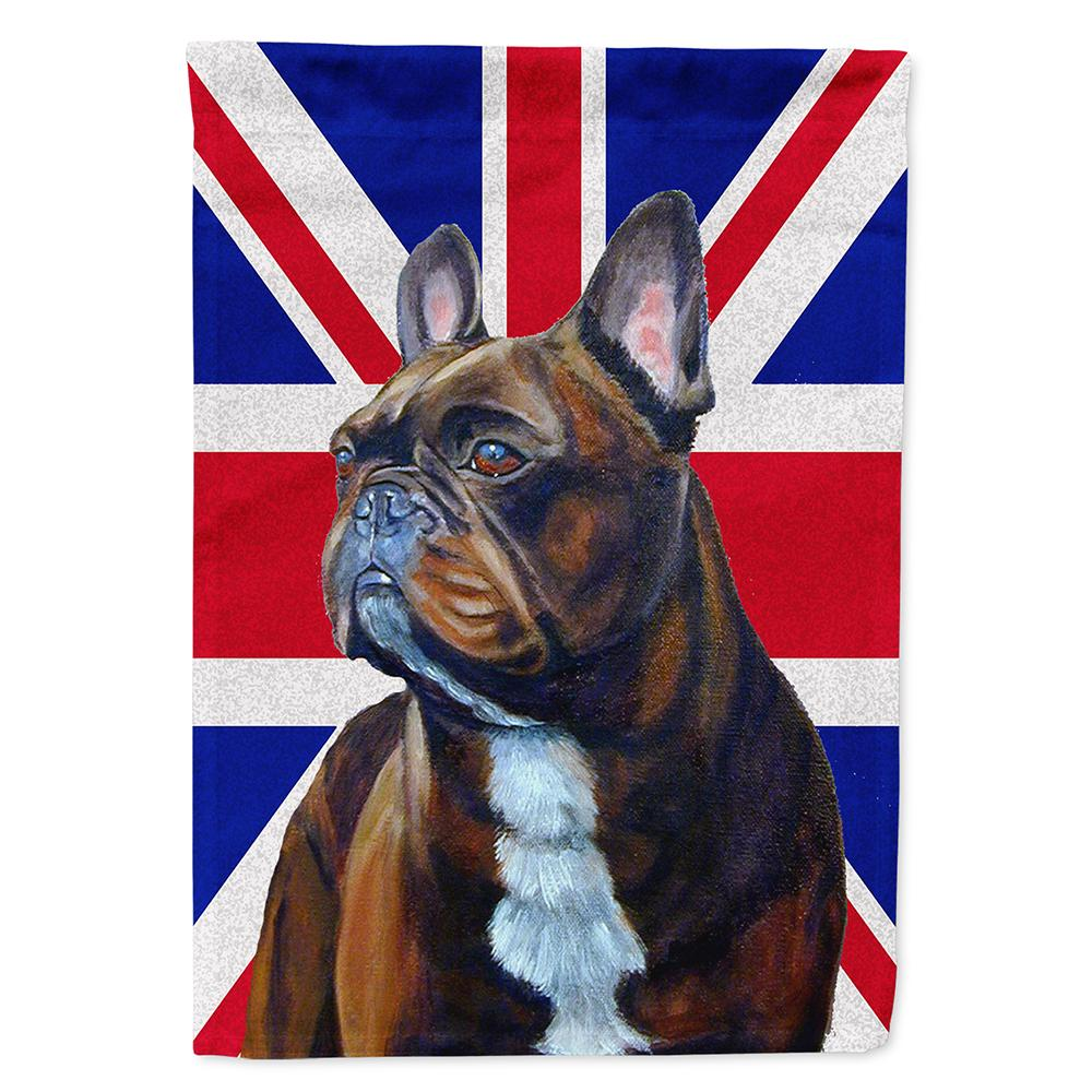 French Bulldog with English Union Jack British Flag Flag Garden Size by Caroline's Treasures