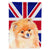 Buy this Pomeranian with English Union Jack British Flag Flag Garden Size