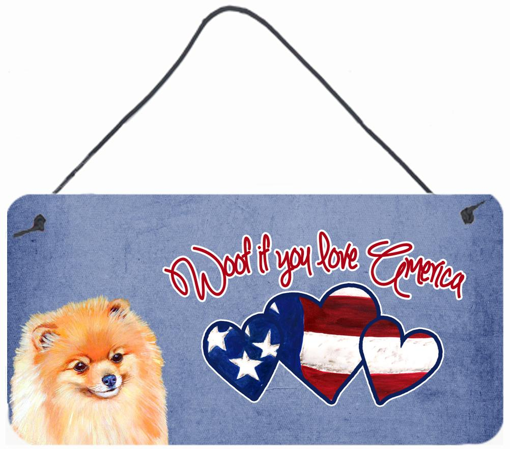 Buy this Woof if you love America Pomeranian Wall or Door Hanging Prints LH9509DS612