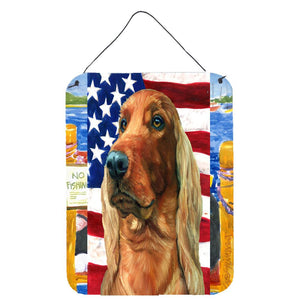 Buy this Irish Setter USA Patriotic American Flag Wall or Door Hanging Prints LH9541DS1216