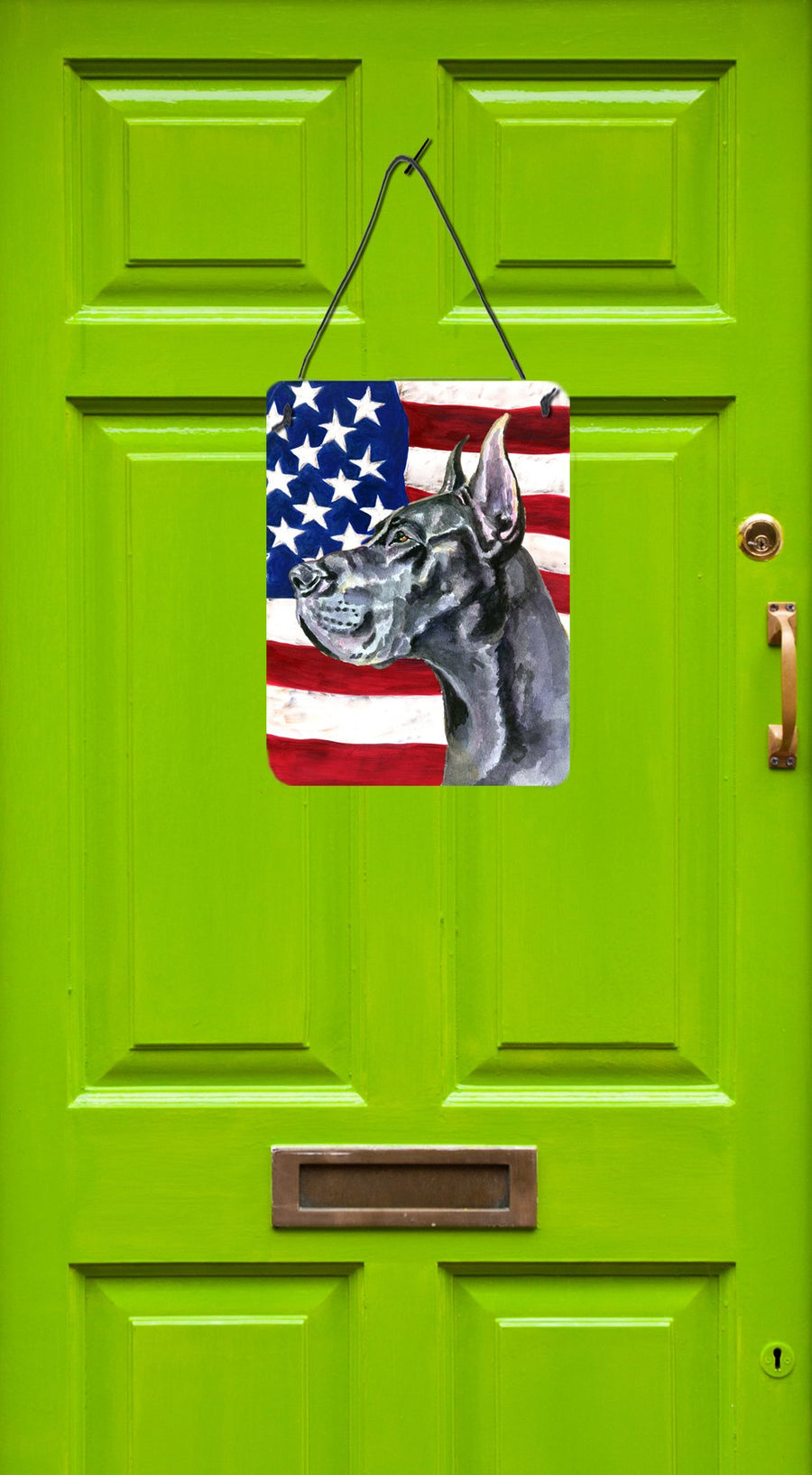 Buy this Black Great Dane USA Patriotic American Flag Wall or Door Hanging Prints LH9543DS1216