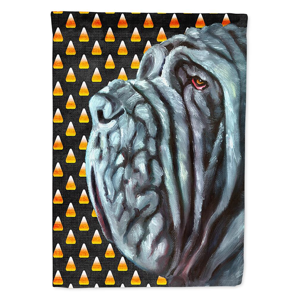 Buy this Neapolitan Mastiff Candy Corn Halloween Flag Garden Size