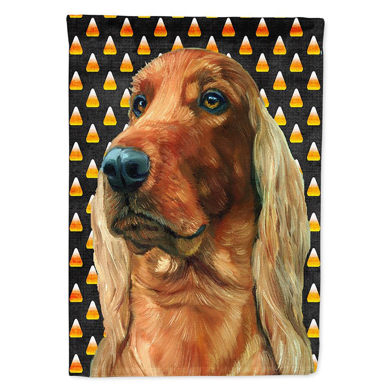Buy this Irish Setter Candy Corn Halloween Flag Garden Size