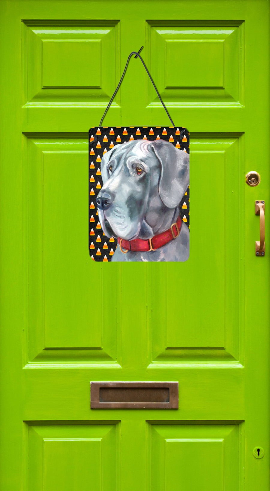 Buy this Great Dane Candy Corn Halloween Wall or Door Hanging Prints LH9549DS1216