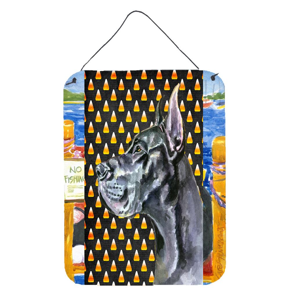 Buy this Black Great Dane Candy Corn Halloween Wall or Door Hanging Prints LH9550DS1216