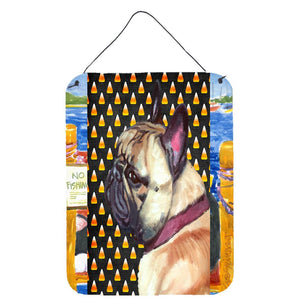 Buy this French Bulldog Frenchie Candy Corn Halloween Wall or Door Hanging Prints LH9552DS1216