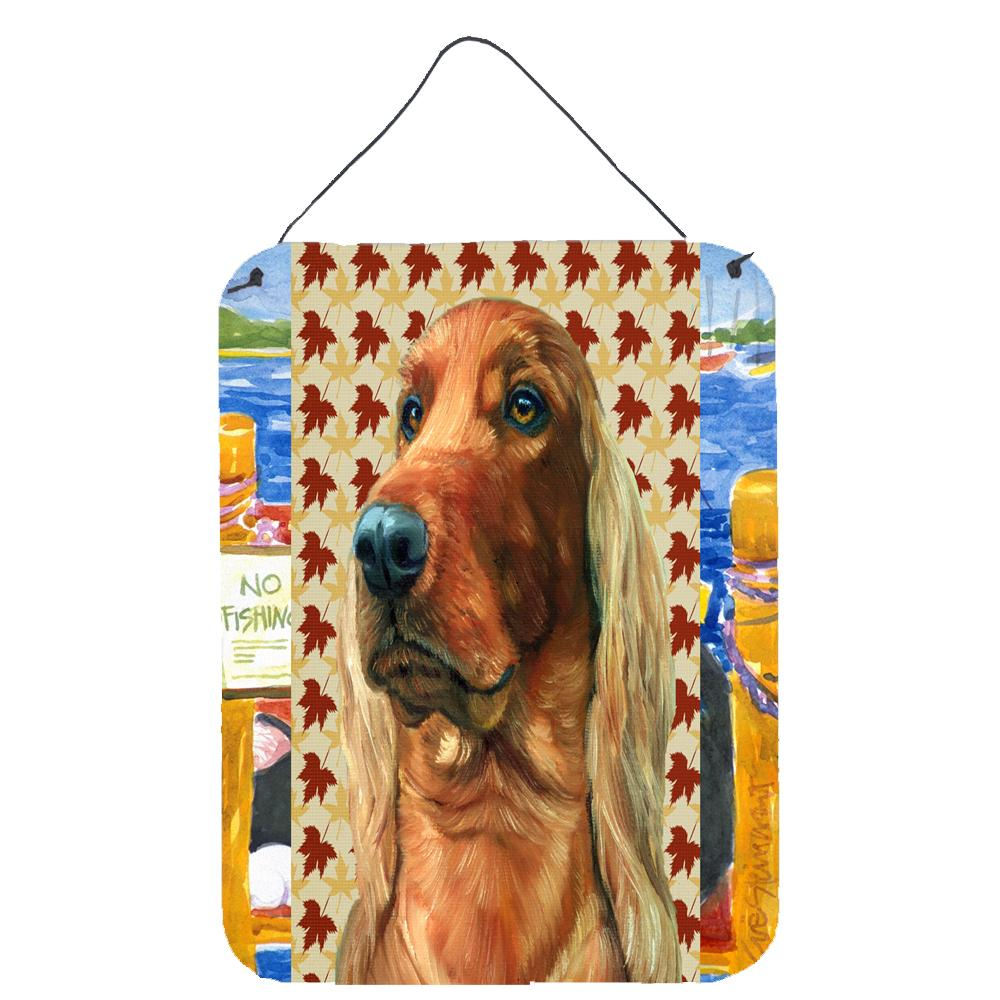Buy this Irish Setter Fall Leaves Wall or Door Hanging Prints LH9555DS1216