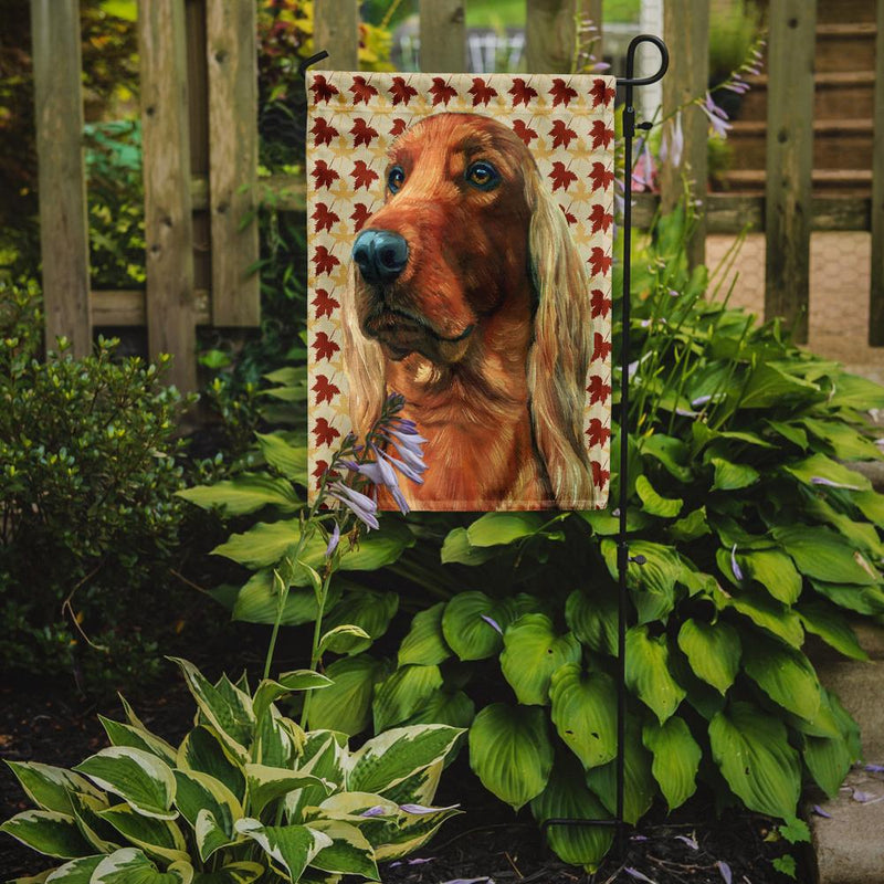Buy this Irish Setter Fall Leaves Flag Garden Size LH9555GF