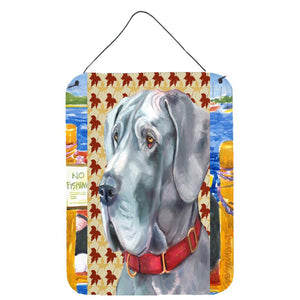 Buy this Great Dane Fall Leaves Wall or Door Hanging Prints LH9556DS1216