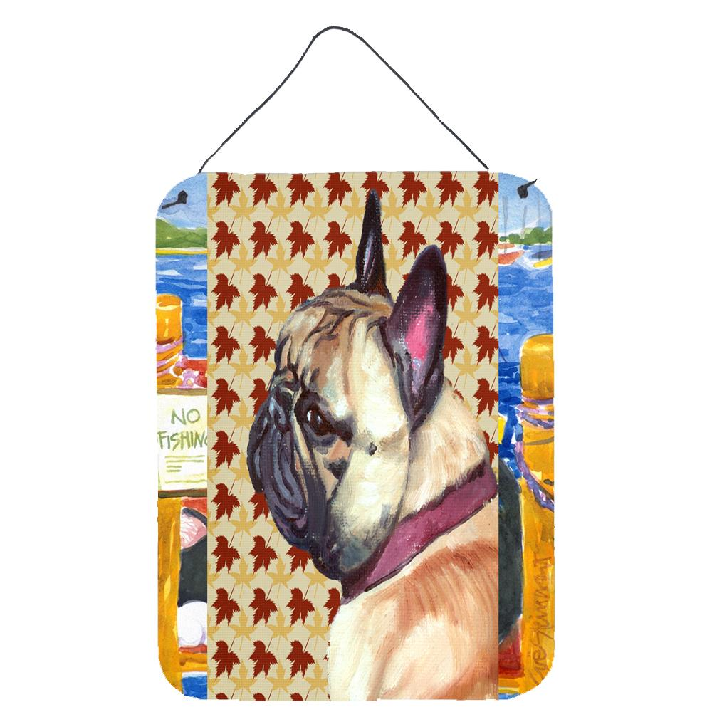 Buy this French Bulldog Frenchie Fall Leaves Wall or Door Hanging Prints LH9559DS1216