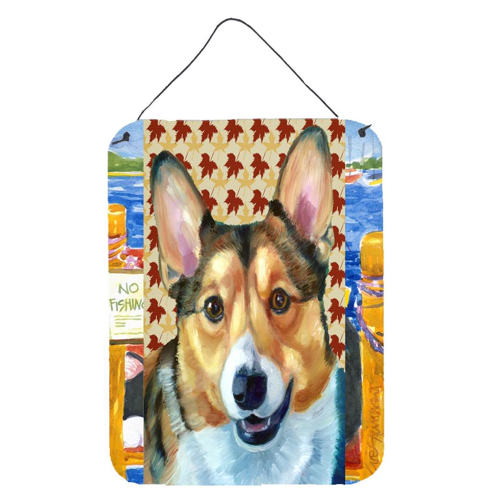 Buy this Corgi Fall Leaves Wall or Door Hanging Prints LH9560DS1216