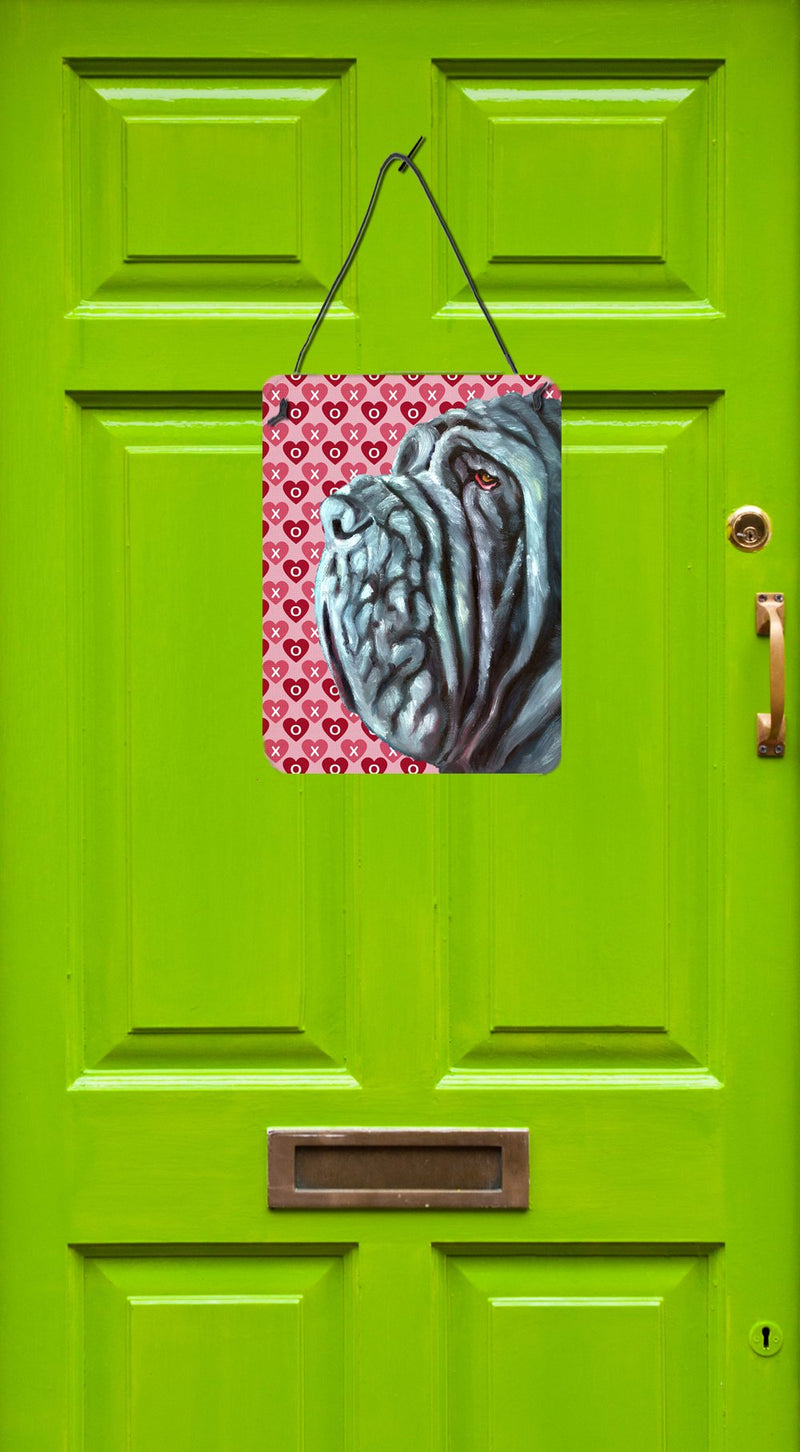 Buy this Neapolitan Mastiff Hearts Love and Valentine's Day Wall or Door Hanging Prints LH9561DS1216