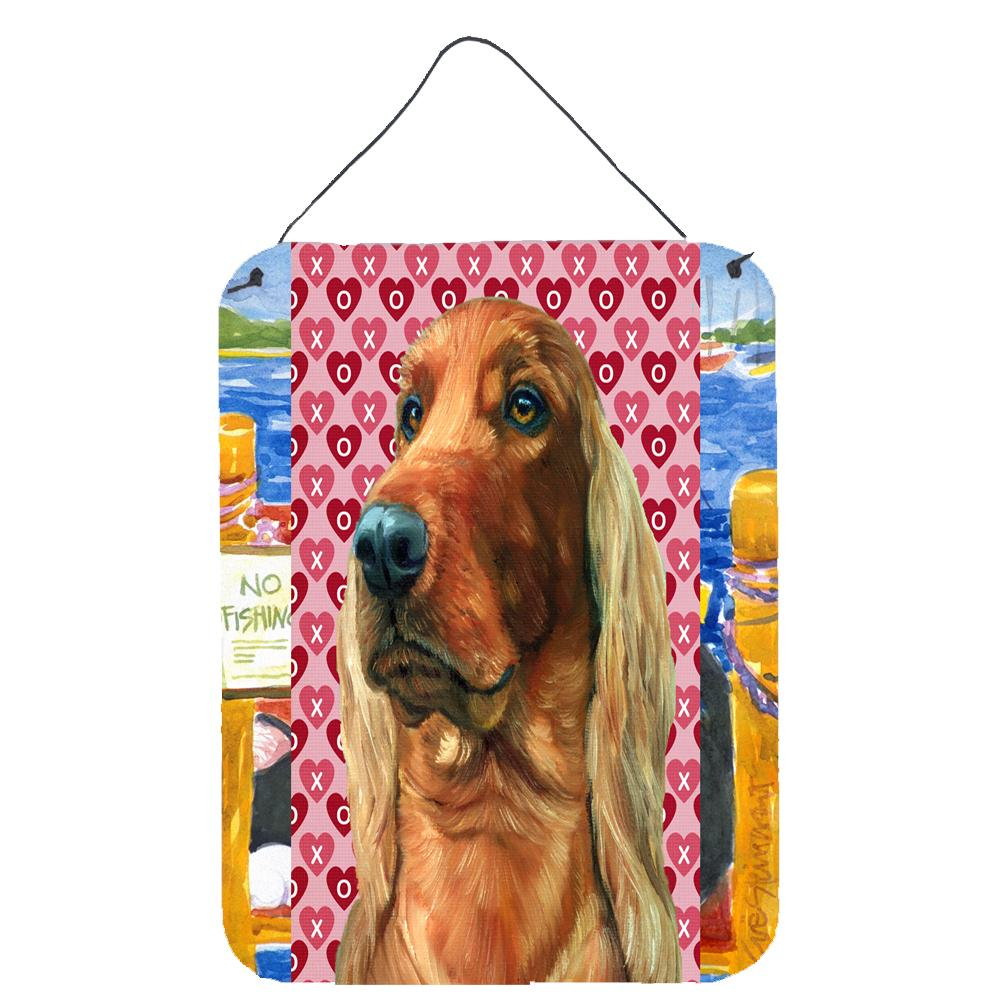 Buy this Irish Setter Hearts Love and Valentine's Day Wall or Door Hanging Prints LH9562DS1216