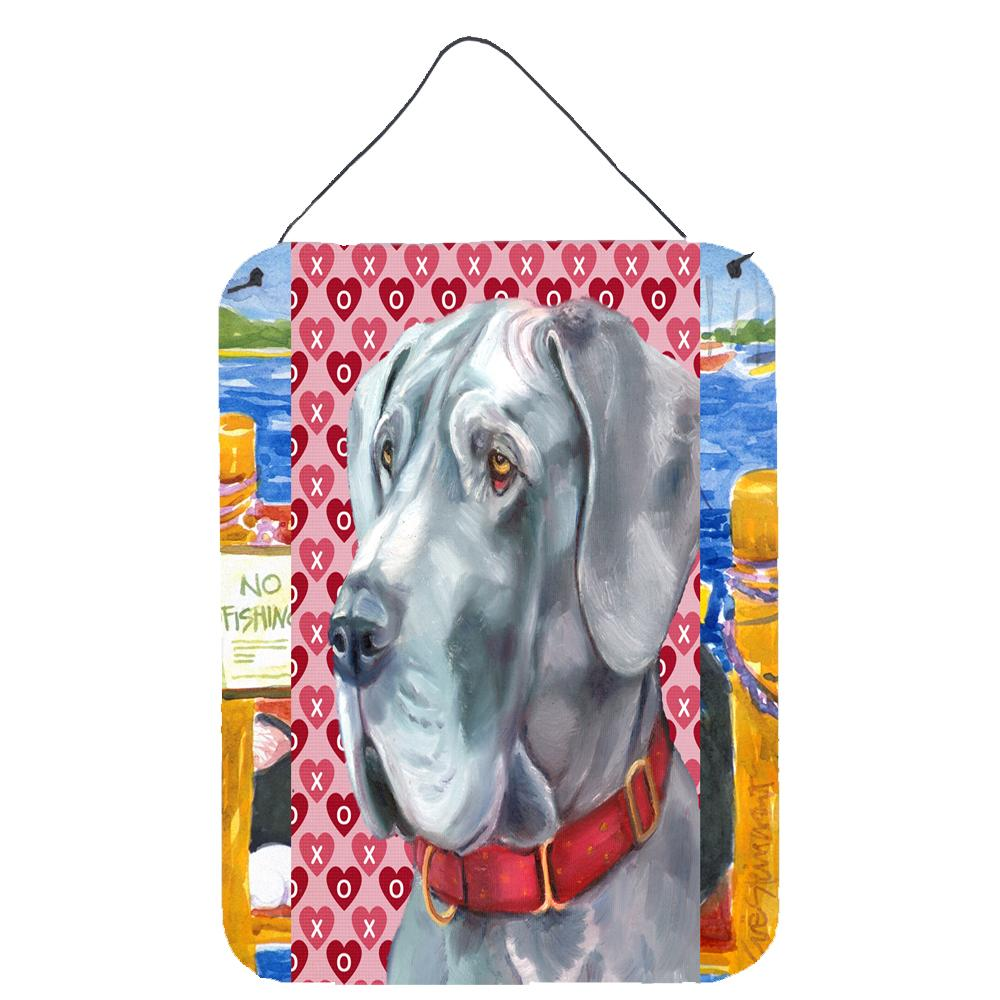 Buy this Great Dane Hearts Love and Valentine's Day Wall or Door Hanging Prints LH9563DS1216