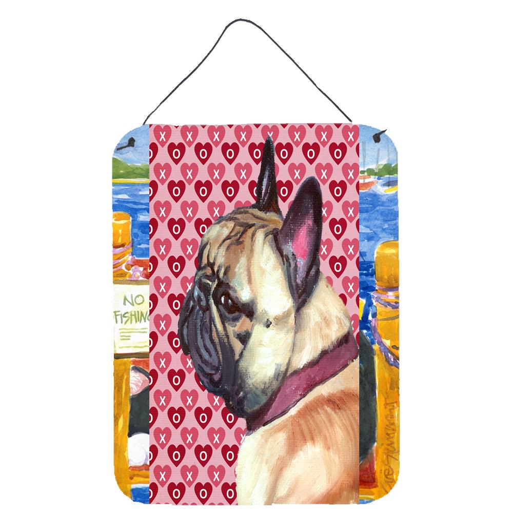Buy this French Bulldog Frenchie Hearts Love and Valentine's Day Wall or Door Hanging Prints LH9566DS1216