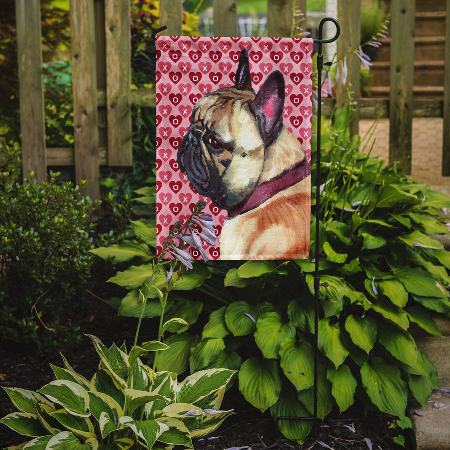 Buy this French Bulldog Frenchie Hearts Love and Valentine's Day Flag Garden Size LH9566GF