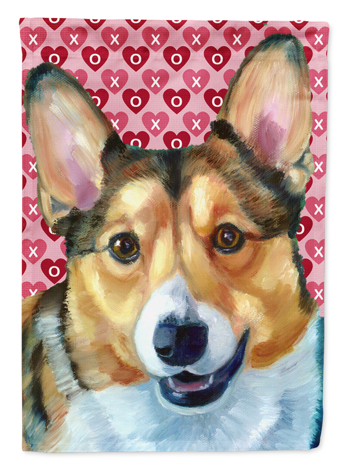 Buy this Corgi Hearts Love and Valentine's Day Flag Garden Size LH9567GF