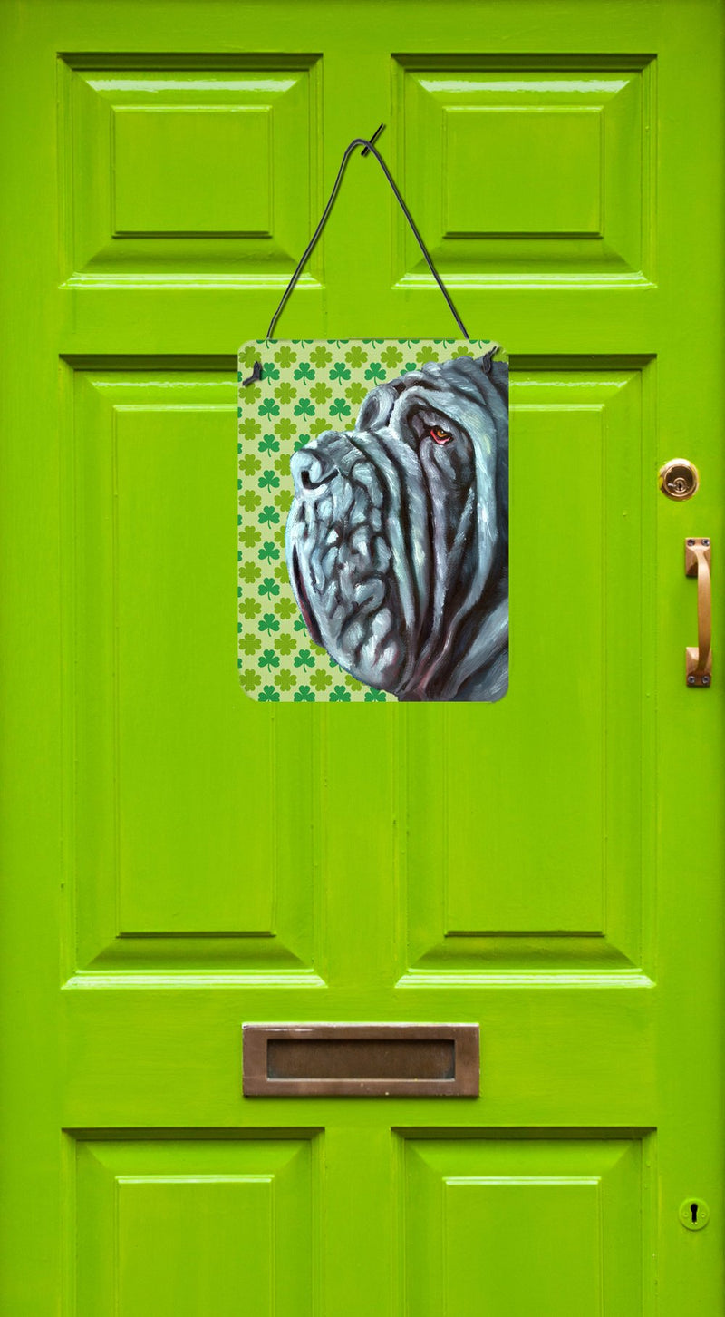 Buy this Neapolitan Mastiff St. Patrick's Day Shamrock Wall or Door Hanging Prints LH9568DS1216