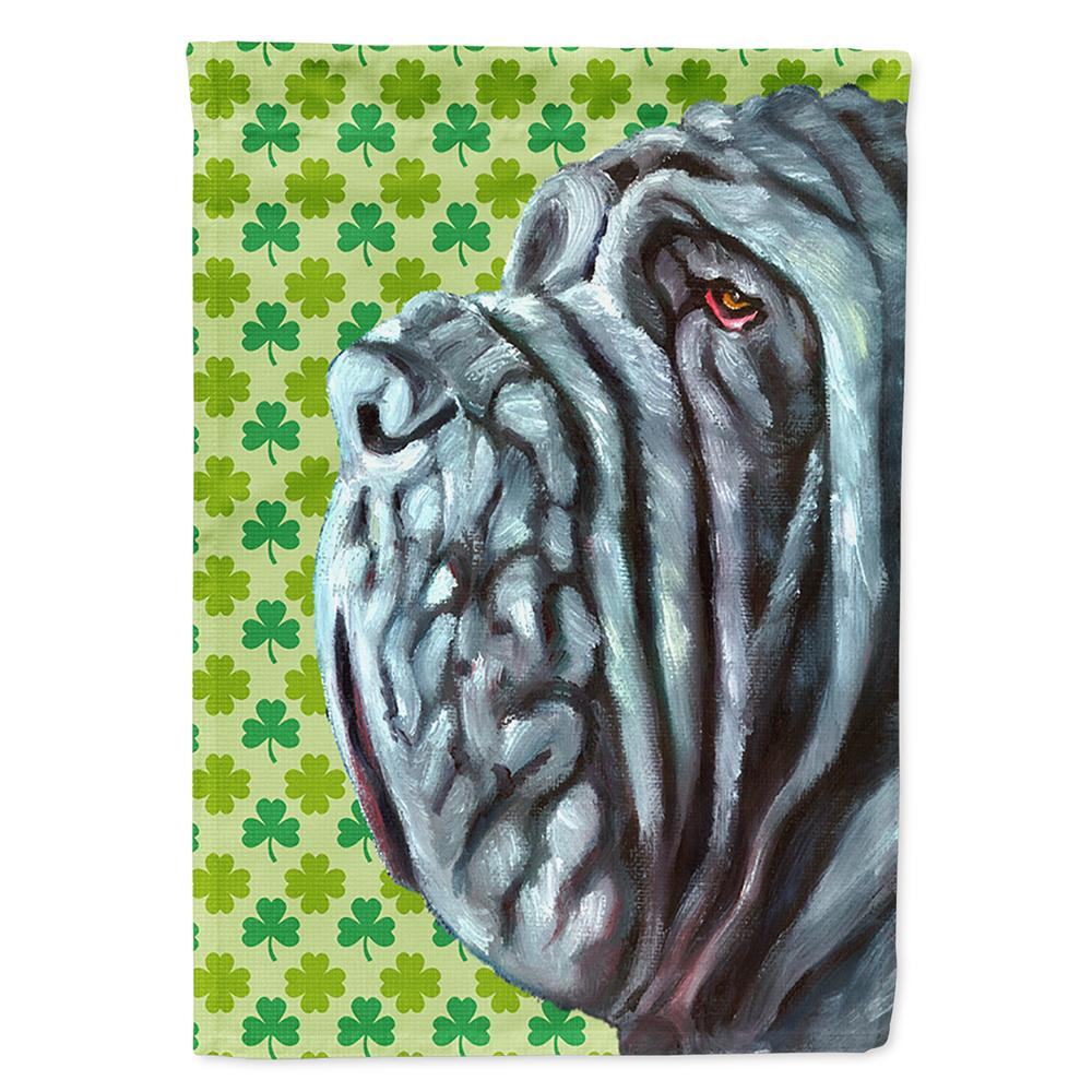 Buy this Neapolitan Mastiff St. Patrick's Day Shamrock Flag Garden Size