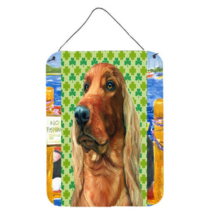 Buy this Irish Setter St. Patrick's Day Shamrock Wall or Door Hanging Prints LH9569DS1216
