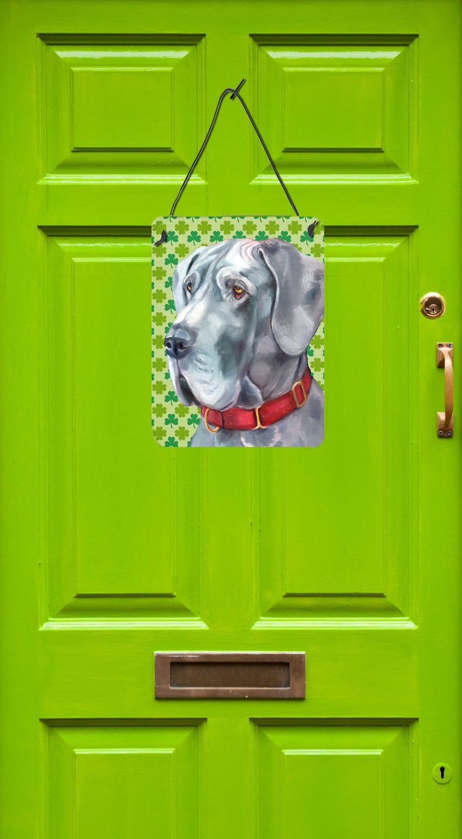 Buy this Great Dane St. Patrick's Day Shamrock Wall or Door Hanging Prints LH9570DS1216