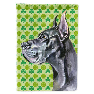 Buy this Black Great Dane St. Patrick's Day Shamrock Flag Garden Size LH9571GF